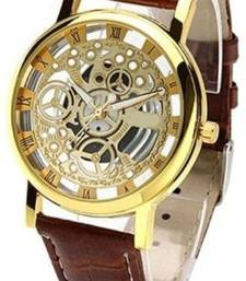 Buy New Fashion Casual Brown color Stylist Quartz Wristwatch watch online