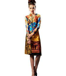 Buy Multicolor Cotton Printed kurti multicolor-kurti online
