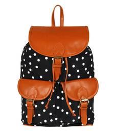 Buy Black canvas debbie backpack backpack online