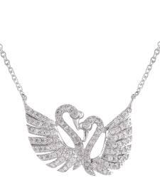 Buy Silver Cubic Zirconia pendants for Women Pendant online