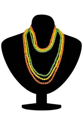 Just Women Set of 3 Splash of Color Wooden Bead Mala