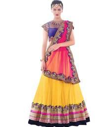 Buy Yellow  Net Semi-Stitched Lehenga Choli black-friday-deal-sale online