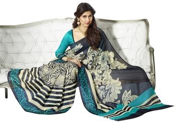 Triveni Amazing Floral Printed Bhagalpuri Silk Traditional Saree TSVF10014