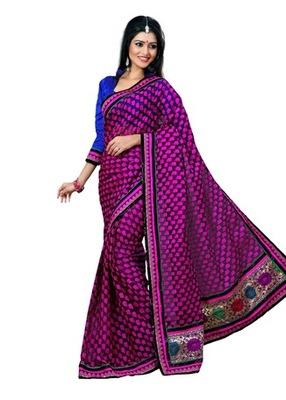 Triveni Alluring Vibrant Colored Border Worked Saree TSN6005