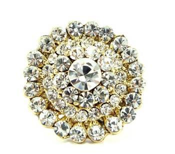Party wear clear white kundan cz adjustable finger ring fr11