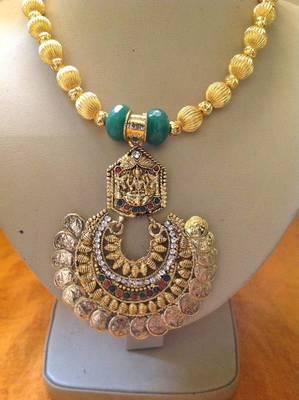 Antique traditional laxmi necklace set