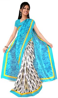 famous art silk sarees with blowse