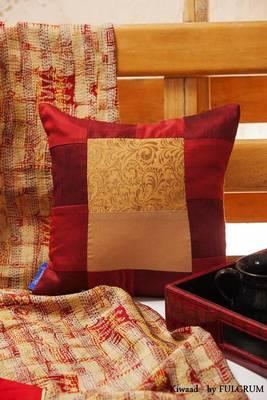 Cushion cover -maroon small