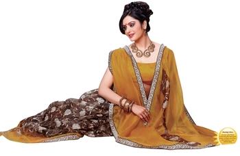Triveni Smart Supernet Floral Motif Printed Indian Designer Saree TSVF9702