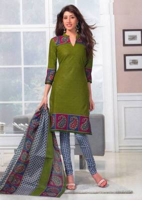 Dress material cotton designer prints unstitched salwar kameez suit d.no SG402