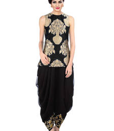 Buy Black Indo Western Dhoti Pant & Jacket black-friday-deal-sale online