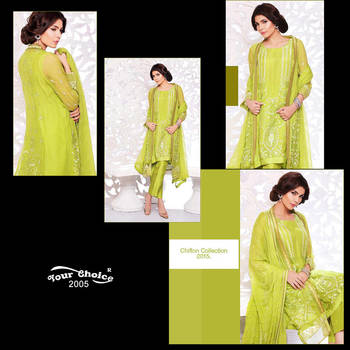 green designer Embroidered dress