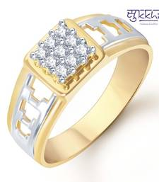 Buy Sukkhi Gold and Rhodium Plated CZ Ring for Men(110GRK450) gifts-for-husband online