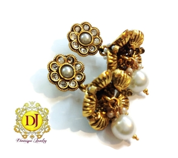 Antique pearl jhumkis