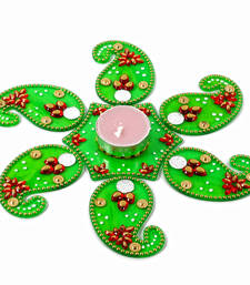 Buy Acrylic artificial kuyri shaped rangoli diwali-decoration online