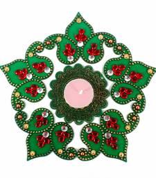 Buy Green shaded artificial diwali rangoli diwali-decoration online