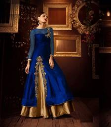 Buy Golden embroidered art silk stitched lehenga black-friday-deal-sale online