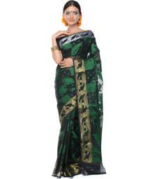 Buy Black woven super net saree with blouse supernet-saree online