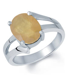 Buy 7.7ct Yellow Sapphire gemstone rings astrology-ring online