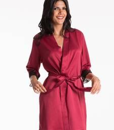 Buy rosewood lace trim wrap nightwear online
