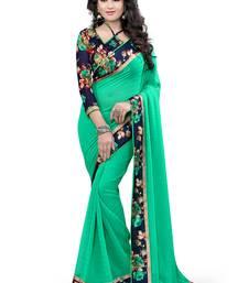 Buy C Green printed bhagalpuri silk saree with blouse bhagalpuri-silk-saree online