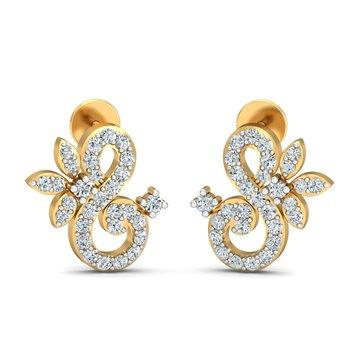 0.41ct diamond studs 18kt gold earrings
