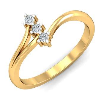 0.06ct diamond 18kt gold rings