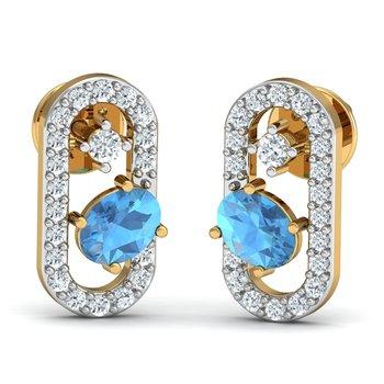 0.15ct diamond studs 18kt gold earrings