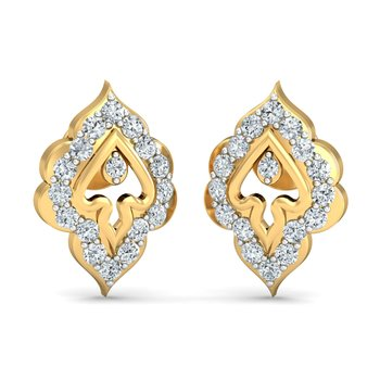 0.2ct diamond studs 18kt gold earrings