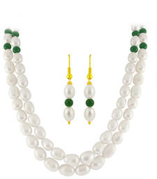 Buy freshWater pearl White semi precious gemstone-necklaces gemstone-necklace online