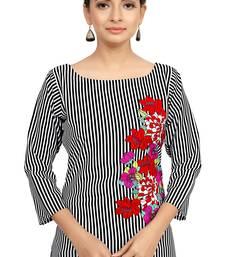 Buy multicolor crepe printed stitched kurti kurtis-below-500 online