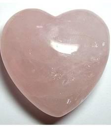 Buy Rose quartz heart shaped stone set of 2 chakra healing crystal gemstone other-gemstone online