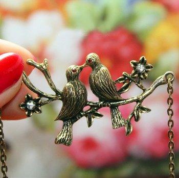 Gold Bird Chain Neckpiece