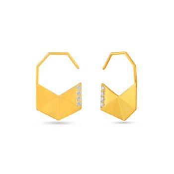 0.2ct cubic zirconia Semi precious gemstone-earrings