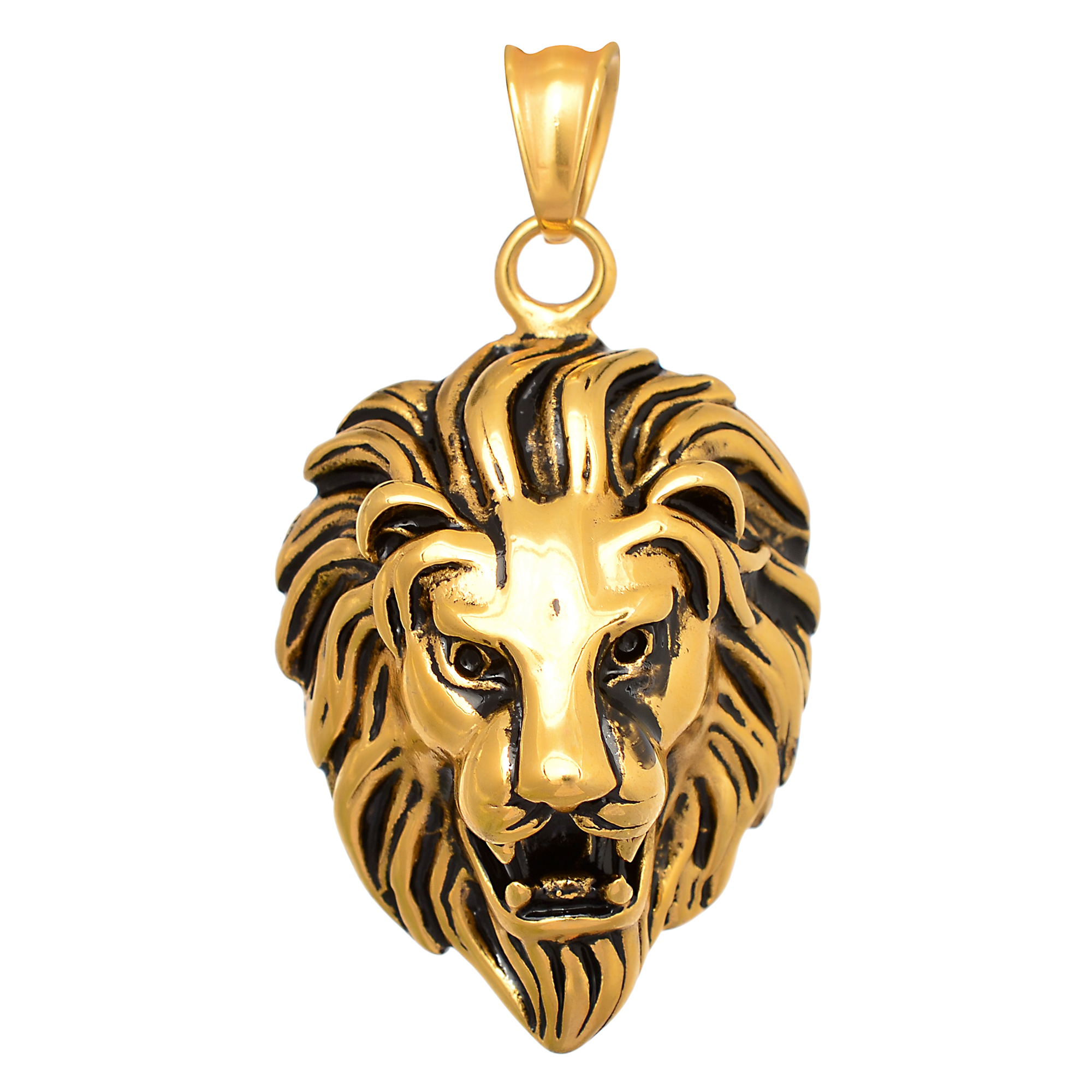 products lion necklace store plated getty pendant silver the bronze