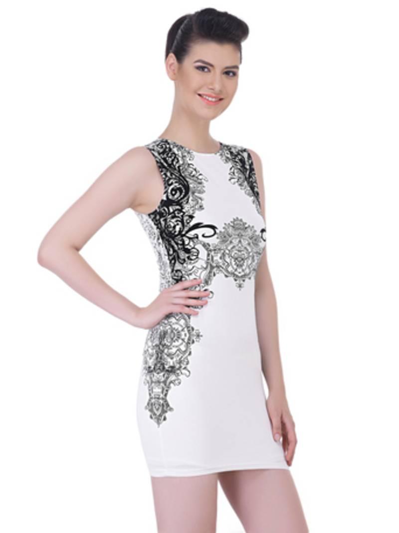 Buy White Viscose Sexy Western Wear Online-2963