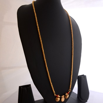 Golden coral mangalsutra