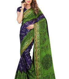 Buy Blue hand woven jacquard saree with blouse jacquard-saree online
