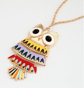 Colored Owl NeckPiece(CFN0027)