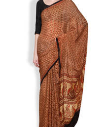 Buy Maroon printed silk saree with blouse silk-saree online
