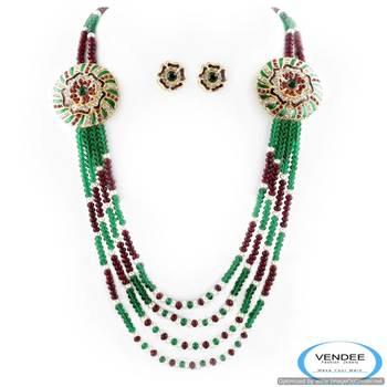 Vendee Fabulous party wear diamonds crystal necklace jewelry 5020