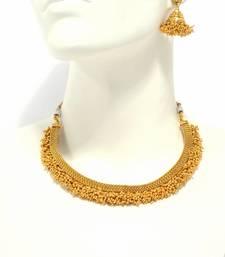 Buy Gold pearl necklace-sets necklace-set online