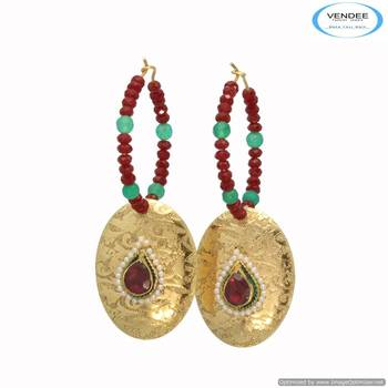 Vendee Stuning stones Enamel fashion earring 6685
