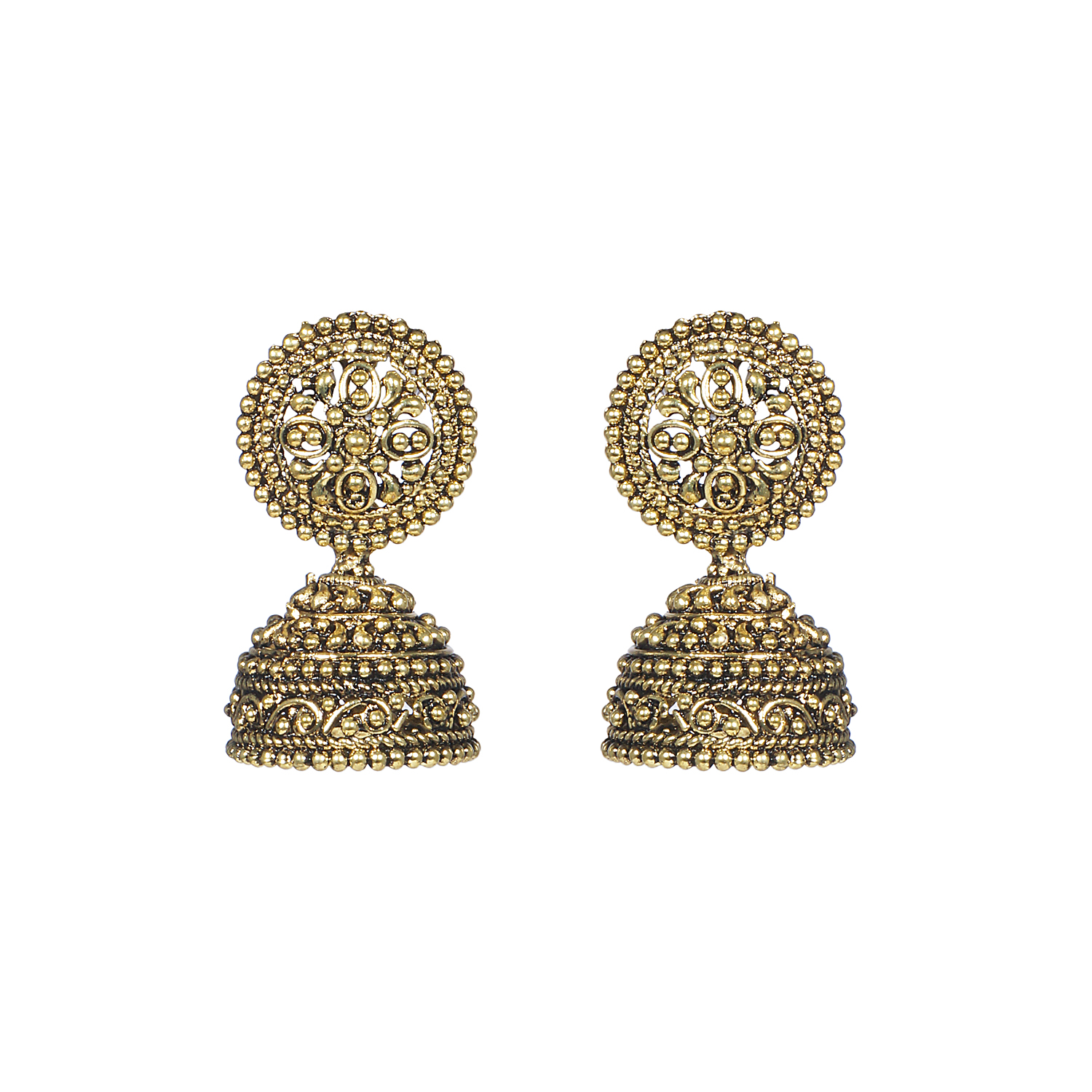 Jhumkas earrings temple jewellery earrings jhumkas in 22k for Online designs