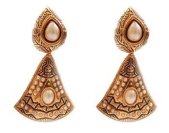 Studded Bell Drop Earrings