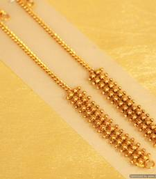 Buy Gold Look Fine Ear Chain danglers-drop online