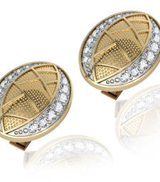 Buy Eric Diamond Cufflink in 14K Yellow Gold studded with 0.97 carats Certified Diamonds other-gemstone online
