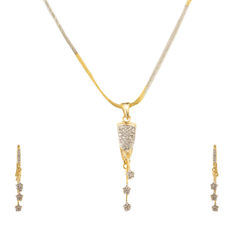 Buy combo of two american diamond pendant sets / necklace sets ...