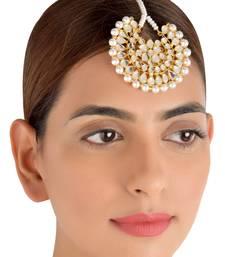 Buy Off-white pearl maang-tikka eid-jewellery online