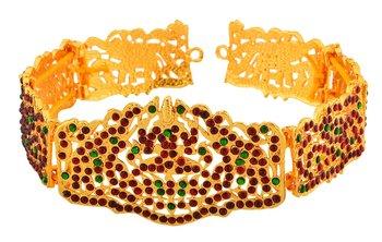 golden plated Ruby waist belt